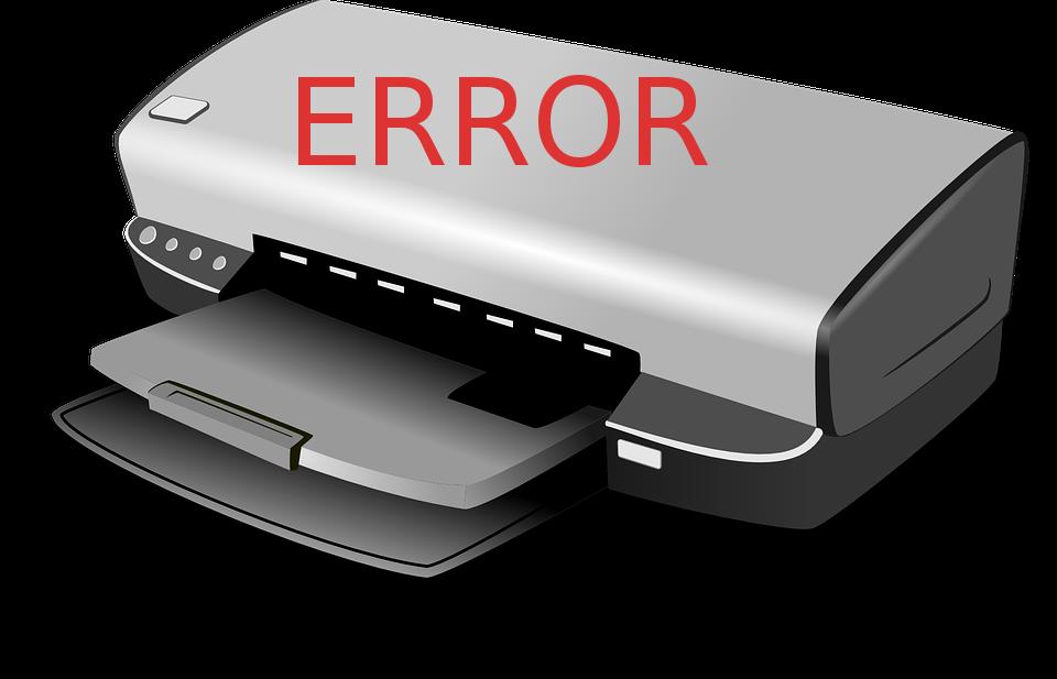 HP принтер error